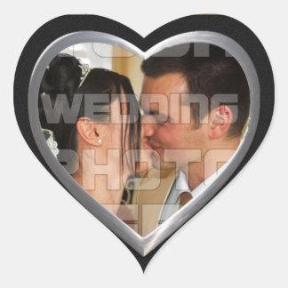 Autocollants élégants de photo de mariage