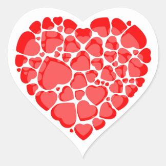 Autocollants en forme de coeur.