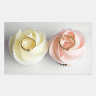 Autocollants en pastel d'anneaux de mariage de