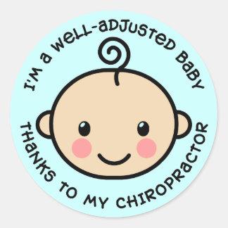 Autocollants équilibrés de chiropractie de bébé