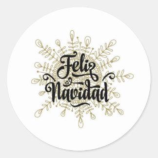 Autocollants espagnols de Noël de Feliz Navidad
