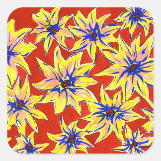 Autocollants floraux lumineux de couleur pour