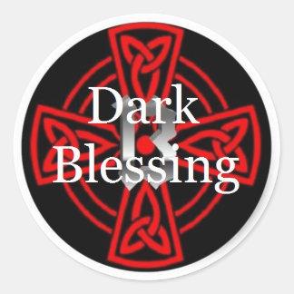 Autocollants foncés de bénédiction