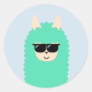 Autocollants frais de type d'Emoji de lama