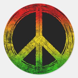 Autocollants grunges frais de symbole de paix de