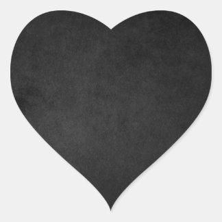 Autocollants grunges noirs de coeur d'Emo