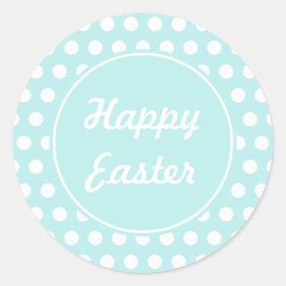 Autocollants heureux de Pâques de rétros vacances