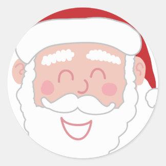 Autocollants heureux de Père Noël