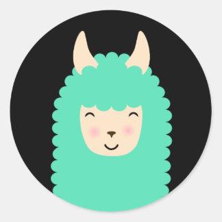 Autocollants heureux d'Emoji de lama