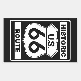 Autocollants historiques de l'itinéraire 66