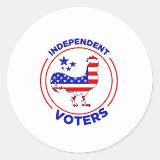 Autocollants indépendants d'électeurs