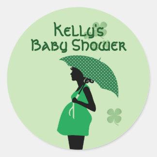 Autocollants irlandais de bosse de bébé de thème
