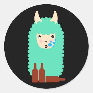 Autocollants ivres d'Emoji de lama