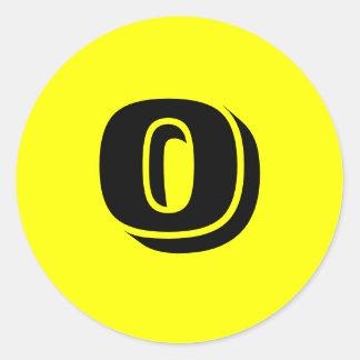 Autocollants jaunes ronds de 0 petits nombres par