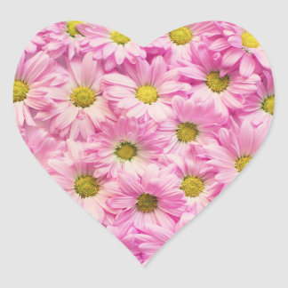 Autocollants - marguerites roses de Gerbera