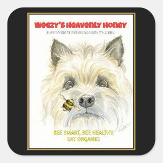 Autocollants merveilleux de Terrier de miel