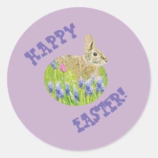 Autocollants mignons de lapin de Pâques