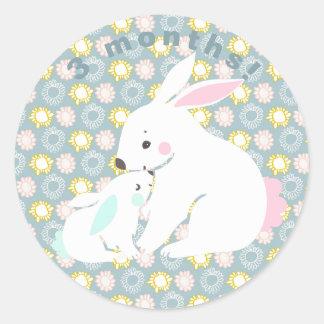 Autocollants mignons d'étape importante de lapin
