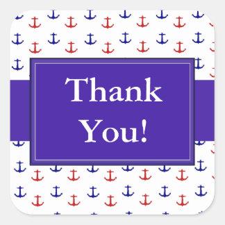 Autocollants nautiques d'ancres de Merci