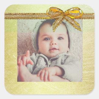Autocollants neutres de photo de bébé de genre