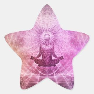 Autocollants pourpres et roses d'étoile de zen de