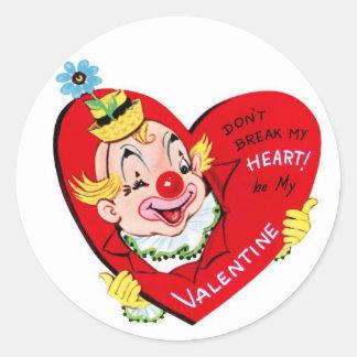 Autocollants ronds de Valentine | de cru du coeur