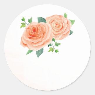 Autocollants roses de faveur de mariage de pêche