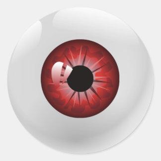 Autocollants rouges de Halloween de globe oculaire