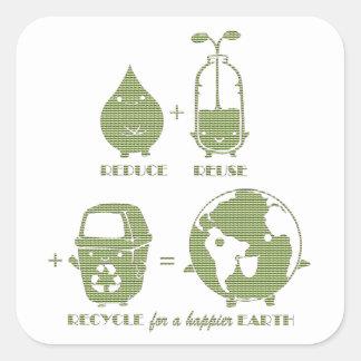 Autocollants simples de jour de la terre de