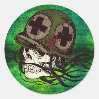Autocollants squelettiques de soldat d'armée