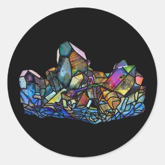 Autocollants titaniques de pierres gemmes de