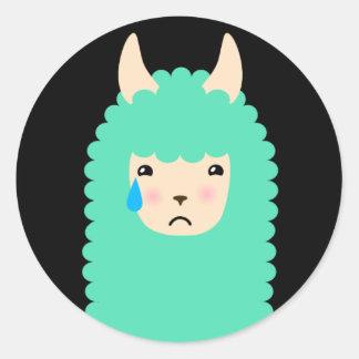 Autocollants tristes d'Emoji de lama