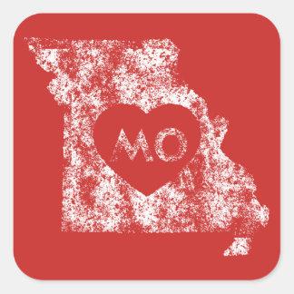 Autocollants utilisés d'état du Missouri d'amour