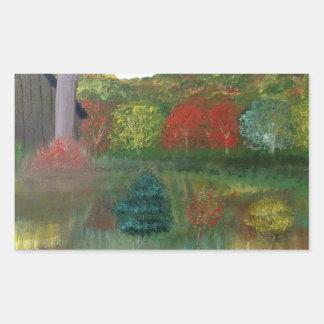 Autocollants vibrants de rectangle d'automne