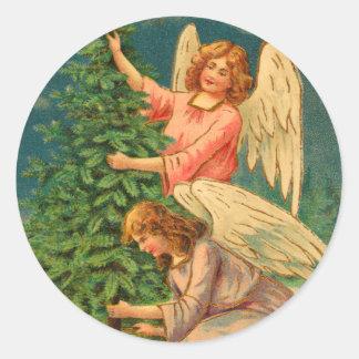 Autocollants victoriens d'ange de Noël