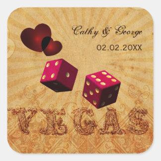 autocollants vintages de faveur de Vegas de