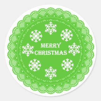 Autocollants vintages de Noël de vert de style