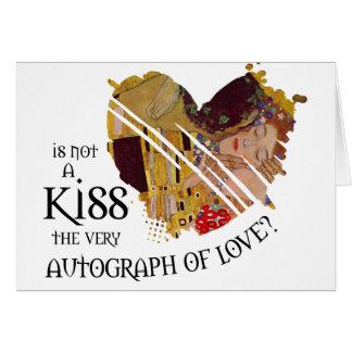 Autographe de l'amour carte