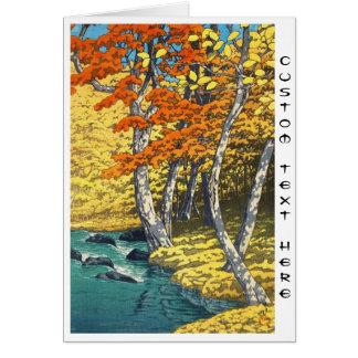 Automne au hanga de tibia de paysage d'Oirase Carte De Correspondance