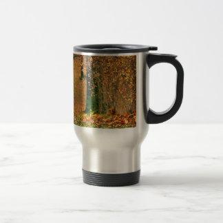 Automne de nature dans les bois mug de voyage
