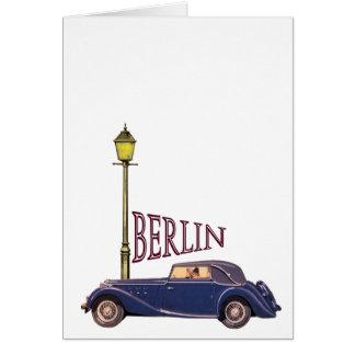 automobile vintage des années 1920 - Berlin Carte De Vœux