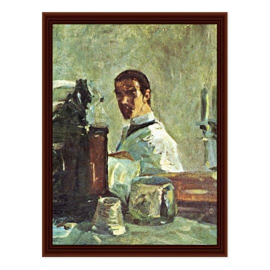 Autoportrait devant un miroir cartes postales zazzle for Autoportrait miroir