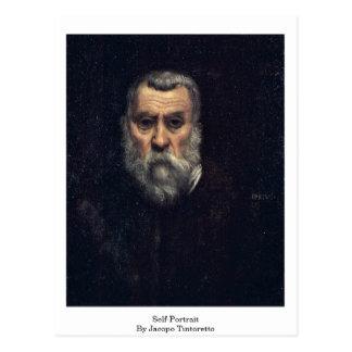 Autoportrait. Par Jacopo Tintoretto Carte Postale