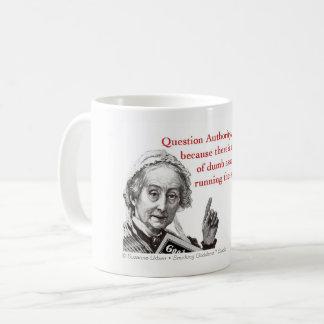 Autorité de question, café drôle ou tasse de thé