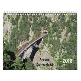 autour du calendrier de la Suisse 2018