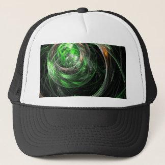 Autour du casquette d'art abstrait de vert du