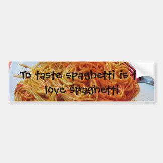 Aux spaghetti d'amour autocollant de voiture