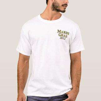 Avant de chemise de mardi gras/2012 arrière t-shirt