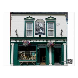 Avant de Pub Cashel - en Irlande Carte Postale
