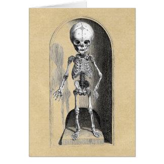 Avant d'enfant/arrière squelettiques carte de vœux